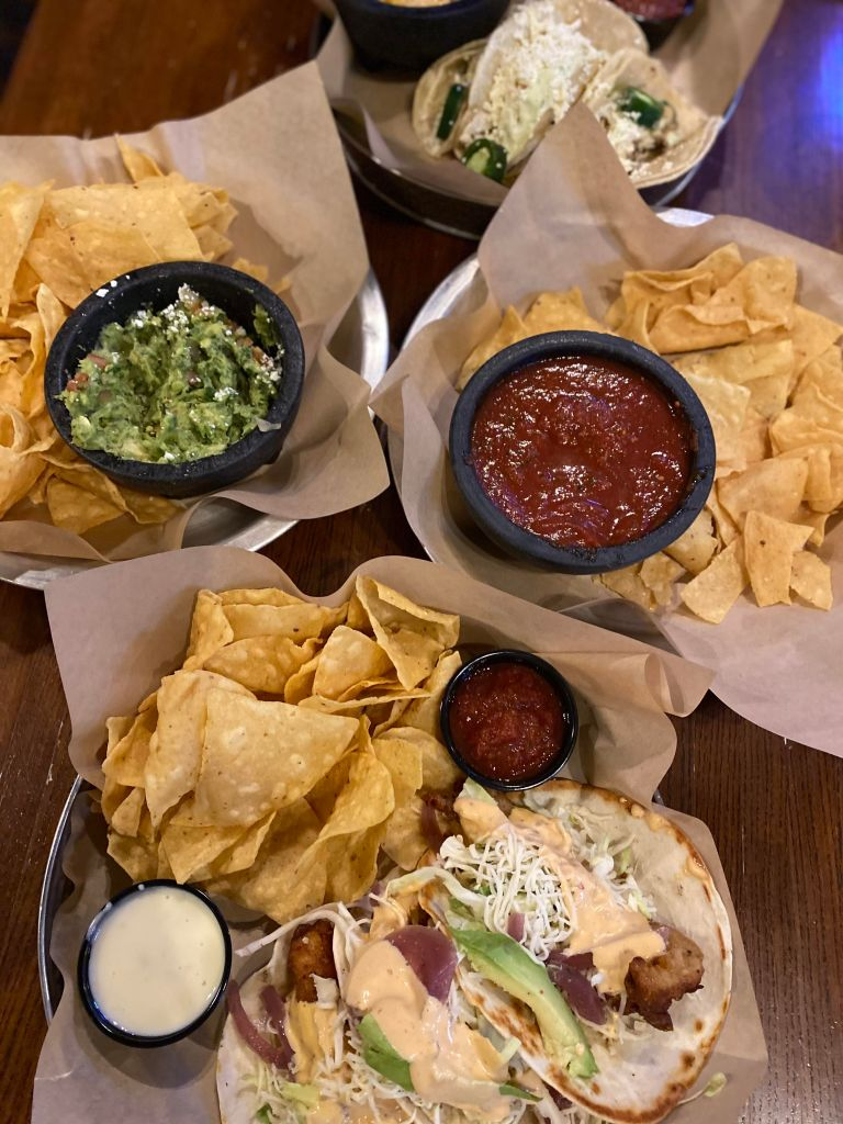 tacos, mexican food, dinner
